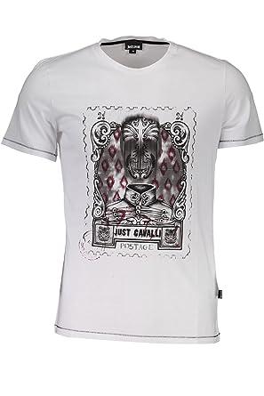75e5ec358f3be Just Cavalli S03GC0459 T-Shirt Short Sleeves Men: Amazon.co.uk: Clothing