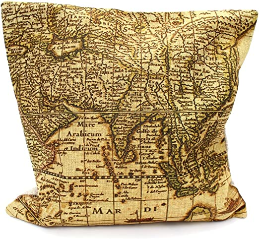Vintage Kartographie Kissenbezug Griechische Inseln Digitaldruck