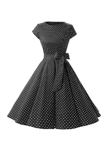 Las Mujeres Vestido Vintage Polka Dot Años 50 Retro Vestidos Cocktail Swing: Amazon.es: Ropa y accesorios