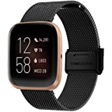 Tomepeia Milanese Loop Stainless Steel Mesh Replacement Watch Strap for Fitbit Versa 2