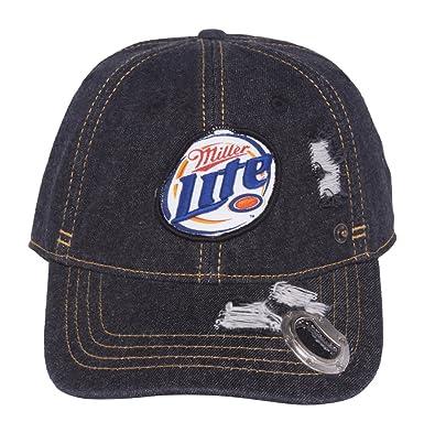 c2da5d368c3b5 Miller Lite Beer Hat w  Bottle Opener in the Bill at Amazon Men s ...