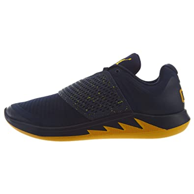 66f34e15672 Nike Jordan Mens Grind 2 Michigan Mesh Synthetic College Navy Amarillo  Trainers 8 US