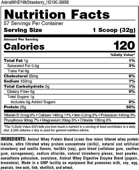 Universal Nutrition Suplemento de Proteína de Suero Animal ...