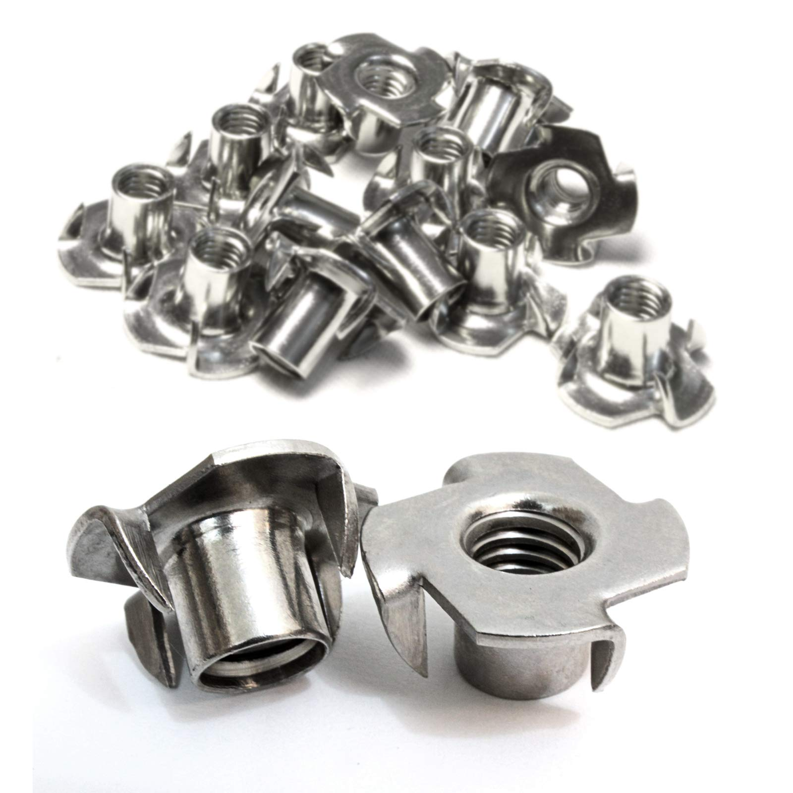 Pronged Tee Nut by Bolt Dropper for Wood 3//8-16 x 7//16 25 Pack Rock Climbing Holds, 304 Choose Size//Quantity Stainless Steel Stainless T-Nuts 3//8-16 Inch 18-8 Threaded Insert