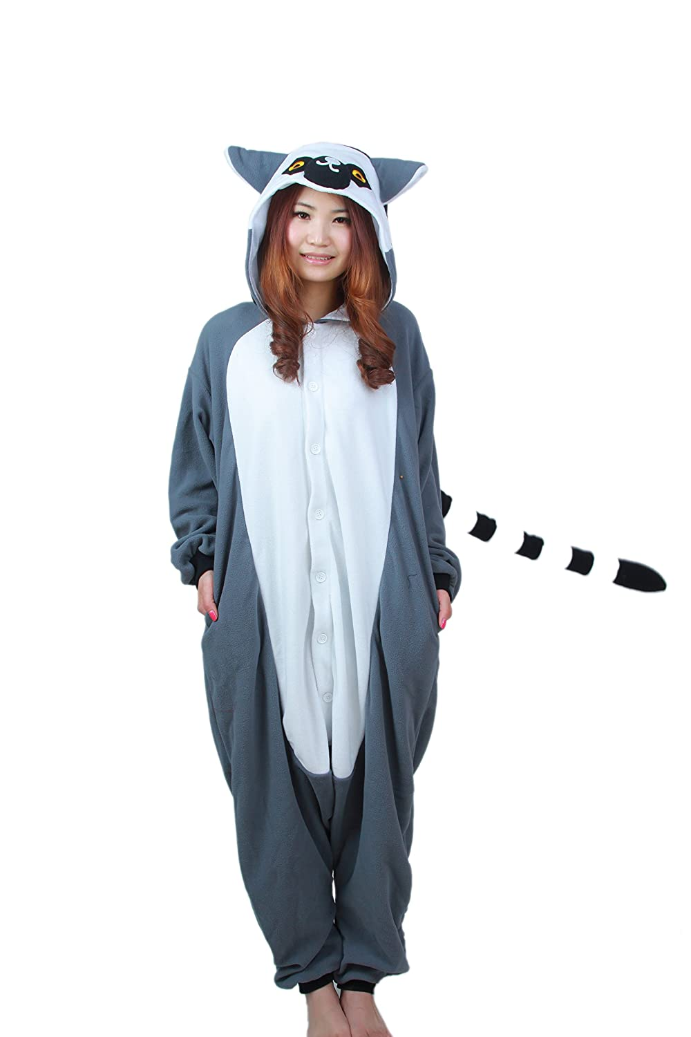 TELLOYSD Animale Cartone Animato Pigiama Adulto Cosplay Costume Casual Tuta Sportiva Uistitì (formato adulto XL (178-185cm))
