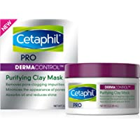 Clay Mask by Cetaphil Pro, Dermacontrol Purifying Clay Face Mask with Bentonite Clay for Blackheads and Pores, Designed…