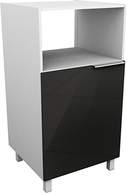 Berlioz Creations - Mueble para microondas, Negro Brillante, 60 x ...