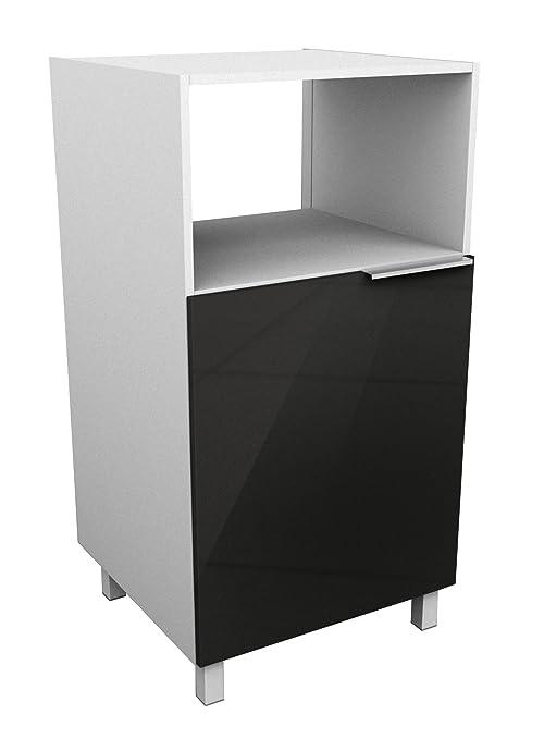 Berlioz Creations - Mueble para microondas, Negro Brillante ...