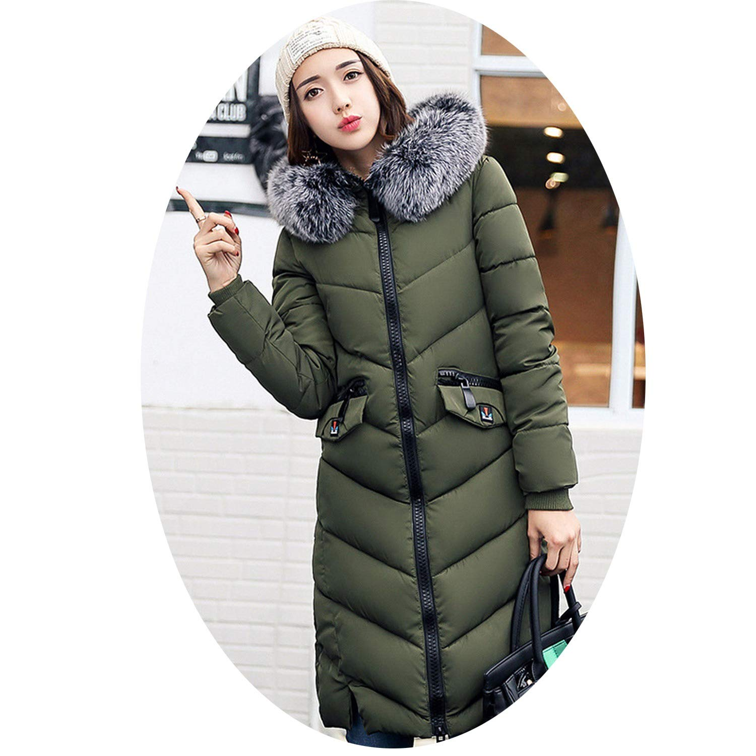 786bc85dea0 Amazon.com: Gooding life Thick Winter Warm Coat Female Winter Jacket Women  Fur Collar Wadded Women Hooded Coat Down Parka Long Outerwear: Clothing