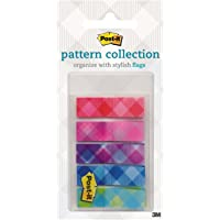 Post-it Pattern Flags Plaid Collection 11.9mm x 43.2mm 683-PLAID1
