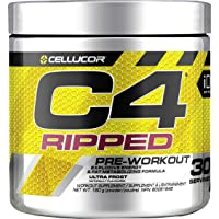 Cellucor C4 Ripped Pre Workout Powder, Energy & Fat Metabolism Supplement, Ultra Frost, 30 Servings, 180g