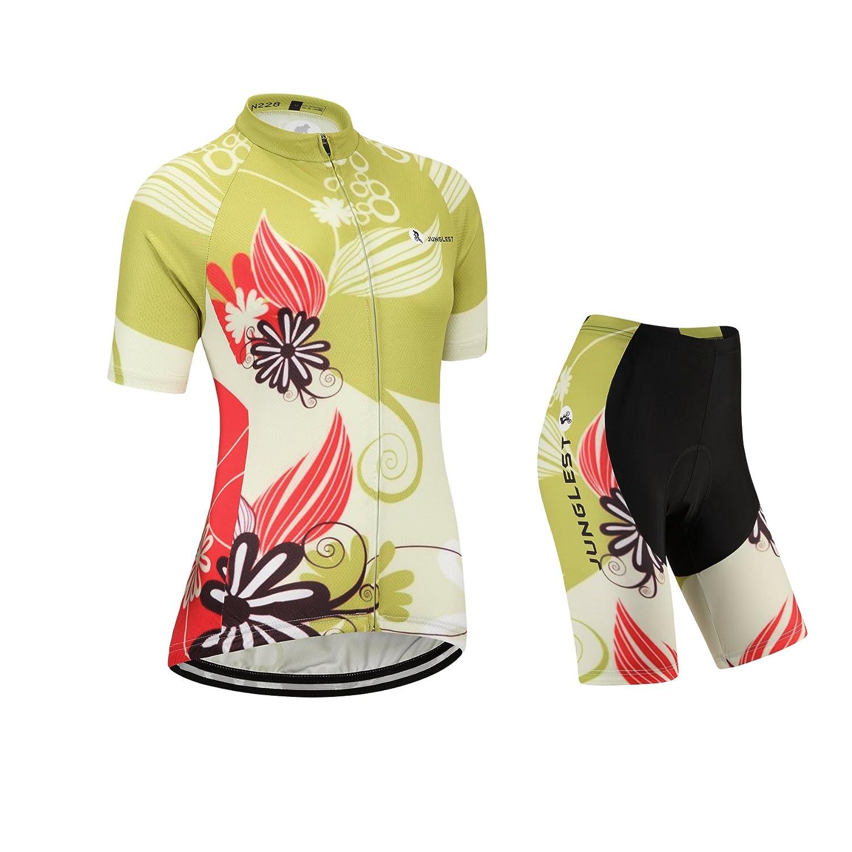 Cycling Jersey Setレディース半袖(S ~ 5 X L、オプション:よだれかけ、3dパッド) n228 B01BX2LJD0  種類: セット (General pad)(Bust 36-38inchs)