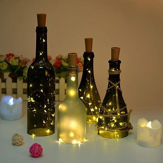 Agptek Iluminación, Cadena de Mini Luces, Blanco Cálido, 6 x 75 cm: Amazon.es: Iluminación