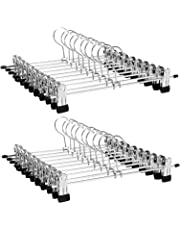 SONGMICS Perchas para Pantalones Metal, 20 Unidades, 31 x 10,5 cm,