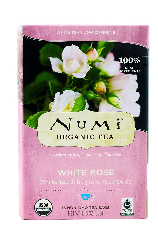 Amazon numi organic tea white rose full leaf white tea 16 amazon numi organic tea white rose full leaf white tea 16 count non gmo tea bags pack of 3 grocery gourmet food mightylinksfo