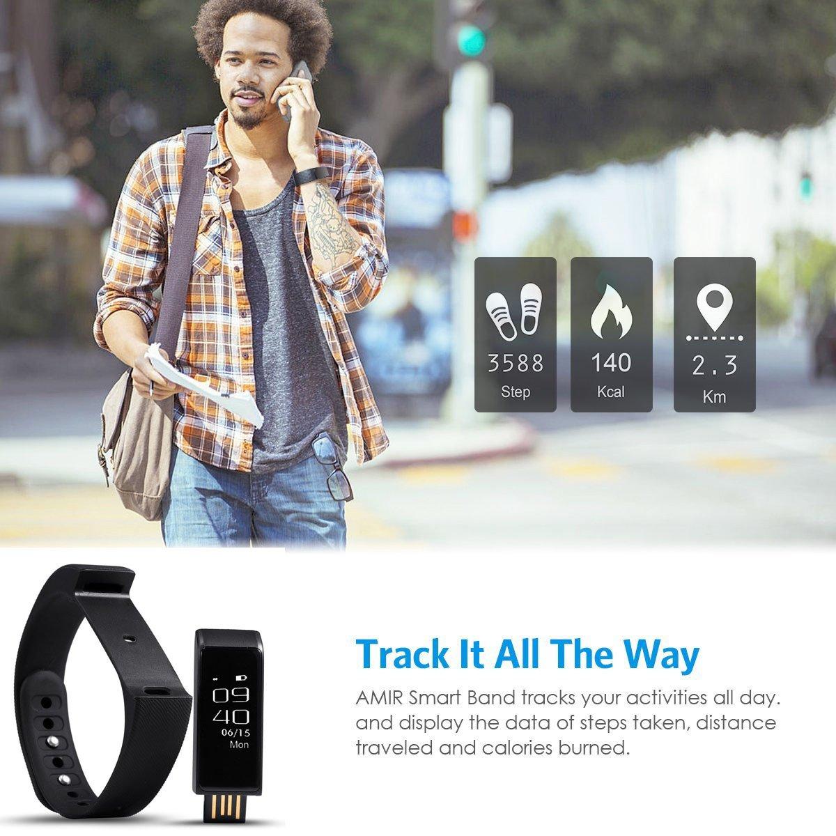 Podómetro Reloj Pulsera de Monitorización Touchscreen,Brazalete ...