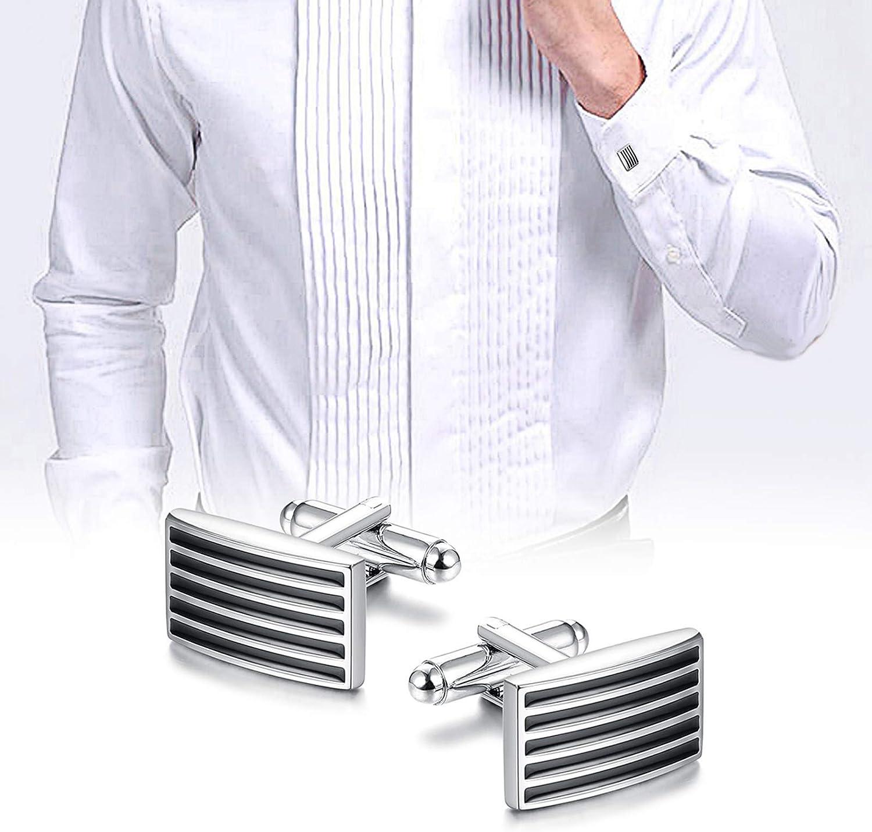 sailimue 5 Paires Classique Boutons de Manchette pour Hommes daffaires Mariage Bouton de Manchette Hommes Bijoux Cadeau F/ête des P/ères