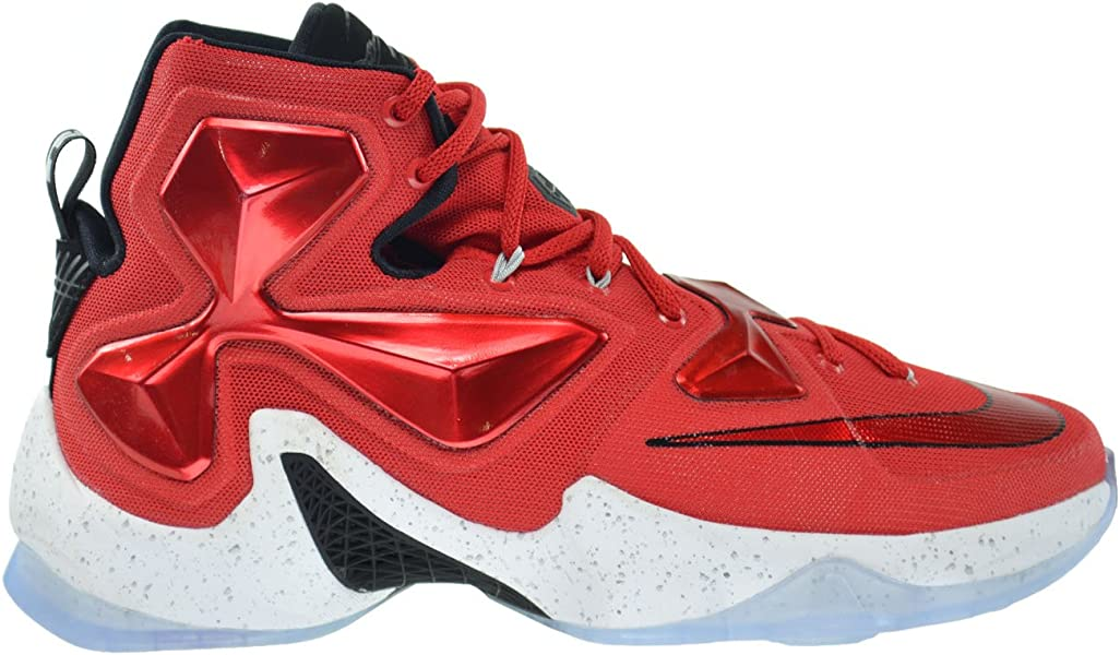 f1fe18c74c6b Nike Lebron XIII Men s Shoes University Red White-Black-Laser Orange 807219-
