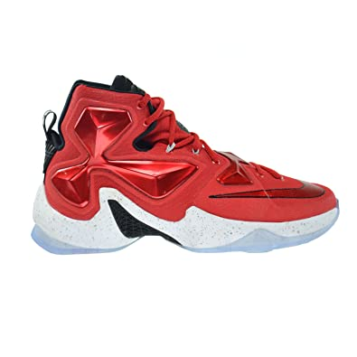 New Men's Nike Lebron XIII Shoes (807219-610)  University Red/White-Black-Laser