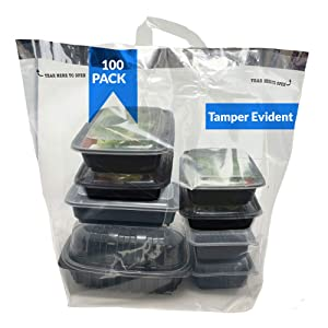 Reli. Tamper Evident to Go Bags (100 Pcs)(Large 21