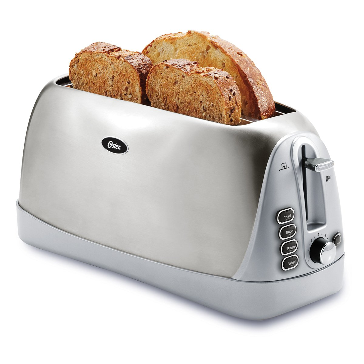 Oster Long Slot 4-Slice Toaster, Stainless Steel (TSSTTR6330-NP)