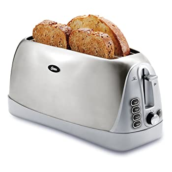 Oster Long Slot Stainless Steel 4-Slice Toaster