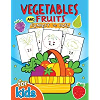 Vegetables and Fruits Connect the Dot for Kids: Education Game Activity and Coloring Book for Toddlers & Kids Christmas Theme
