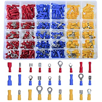 SUHOO 480Pcs Insulated Wiring Terminals Wire Connectors ortment Electrical on