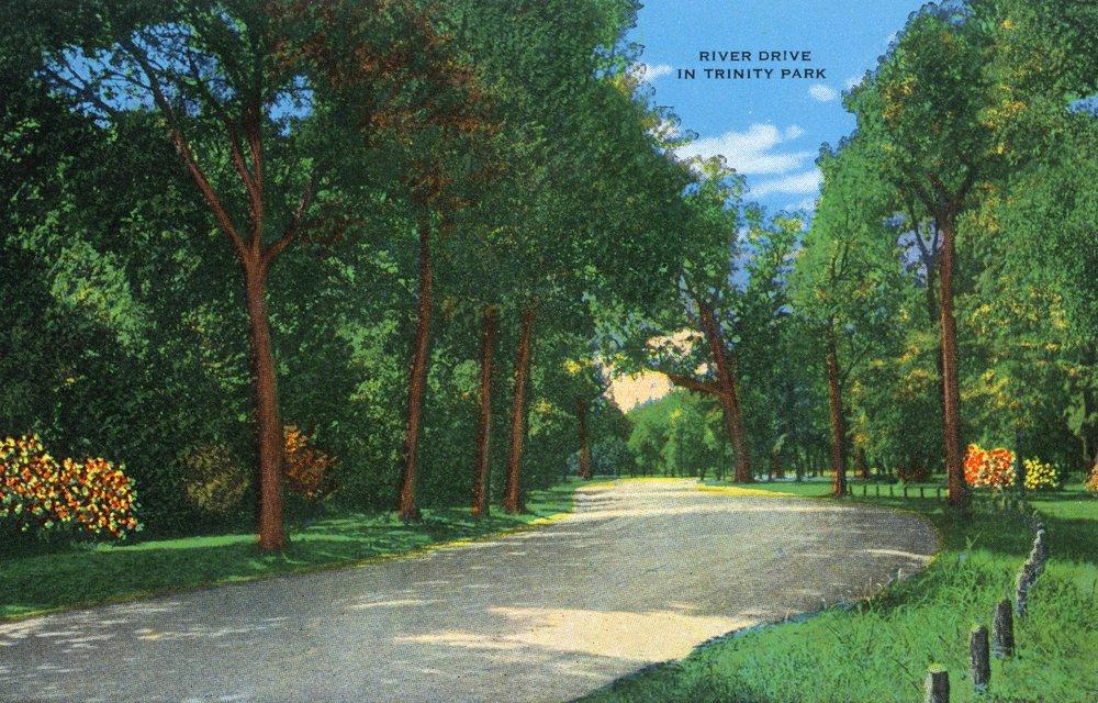 テキサス州フォートワース、トリニティパークの川の景色。 36 x 54 Giclee Print LANT-29976-36x54 36 x 54 Giclee Print  B01MG3RC9E