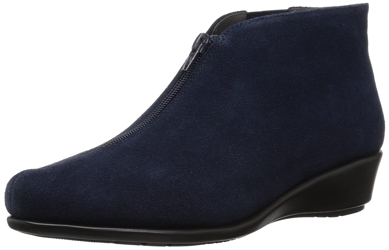 Aerosoles Women's Allowance Ankle Boot B0783HHKTW 7.5 B(M) US|Dark Blue Suede