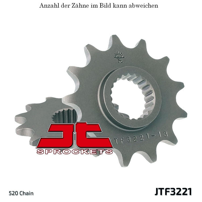 Teilung 520 JTF3221.13 JT Motorrad Ritzel 13 Zähne