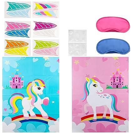 Amazon.com: Unicorn Juego de fiesta suministros decoraciones ...