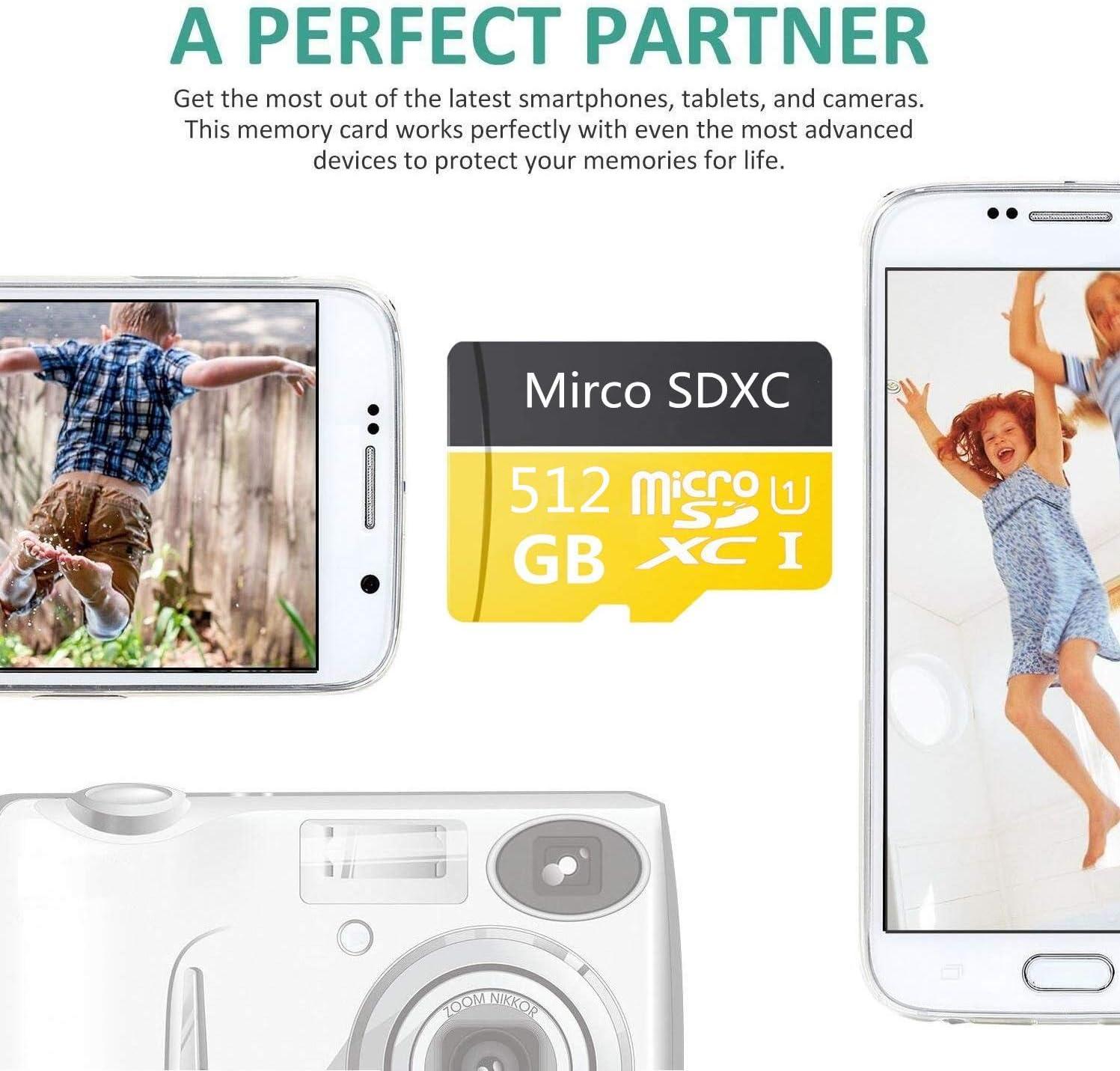 1024GB Tarjeta Micro SD 1024GB de alta velocidad Clase 10 Micro SD SDXC tarjeta con adaptador