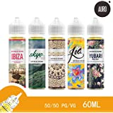 E Cig Liquid AURO 60ML Natural Extracts GOA Icy Mango E Liquid / E Juice / Vape Juice / Shisha Juice/ for Electronic Cigarette Vape Kit -- Nicotine Free