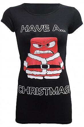 2036b1d3d4969 CHOCOLATE PICKLE New Women Novelty Xmas Plus Size Festive Slim Fit Gift T-Shirt  Tops