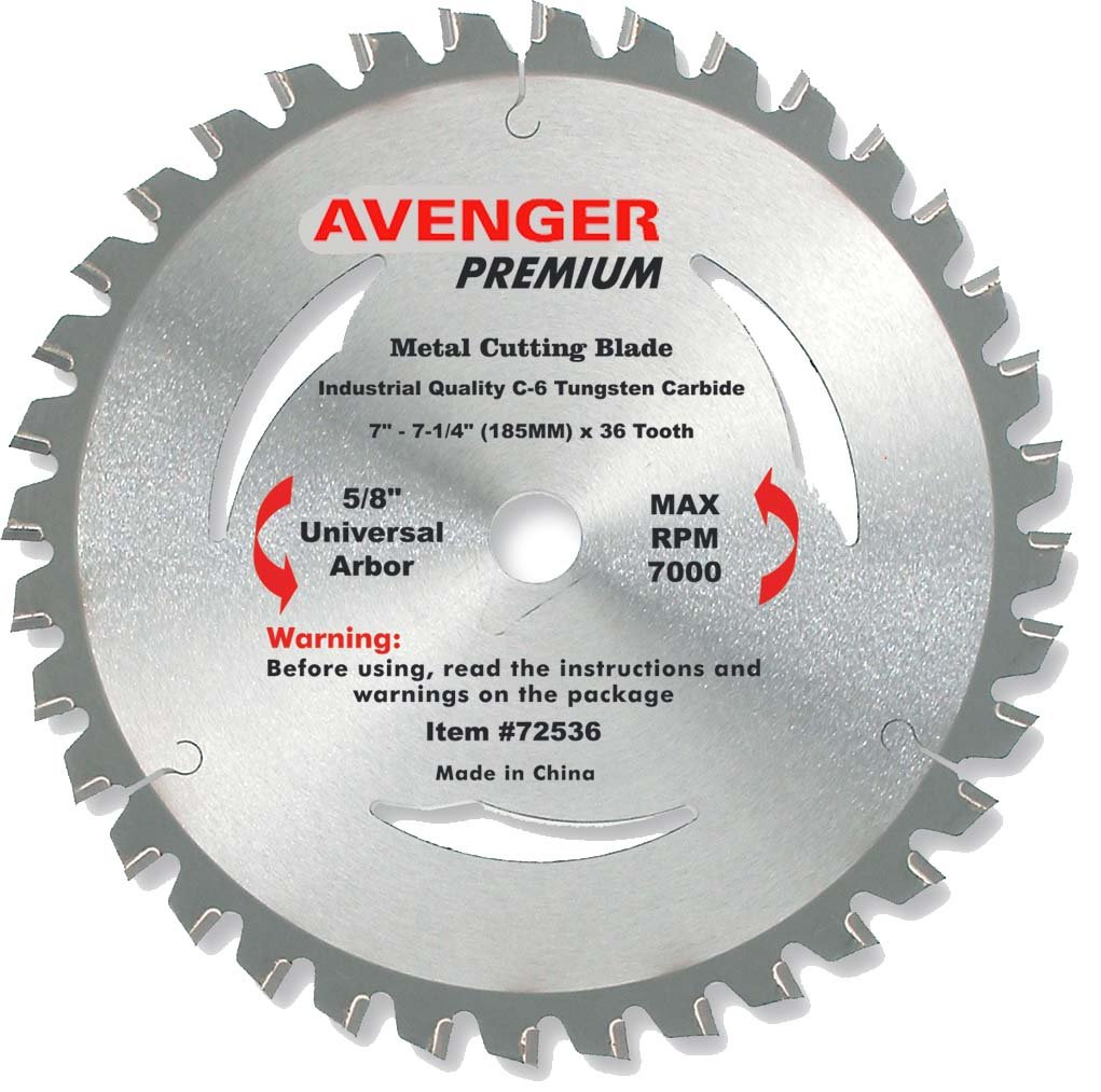 Avenger av 72536 steel cutting saw blade 7 14 inch by 36 tooth 5 avenger av 72536 steel cutting saw blade 7 14 inch by 36 tooth 58 inch arbor with diamond ko c 6 atb circular saw blades amazon greentooth Image collections
