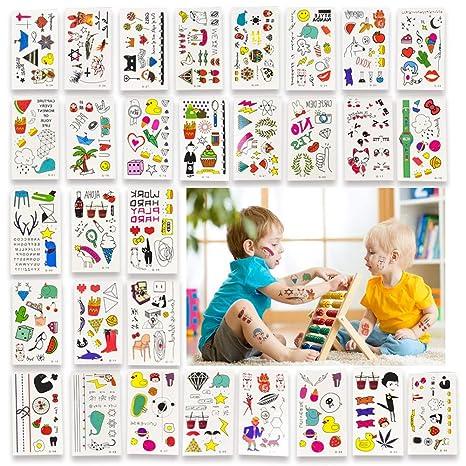 Pegatinas temporales para tatuajes y uñas con purpurina para niños ...