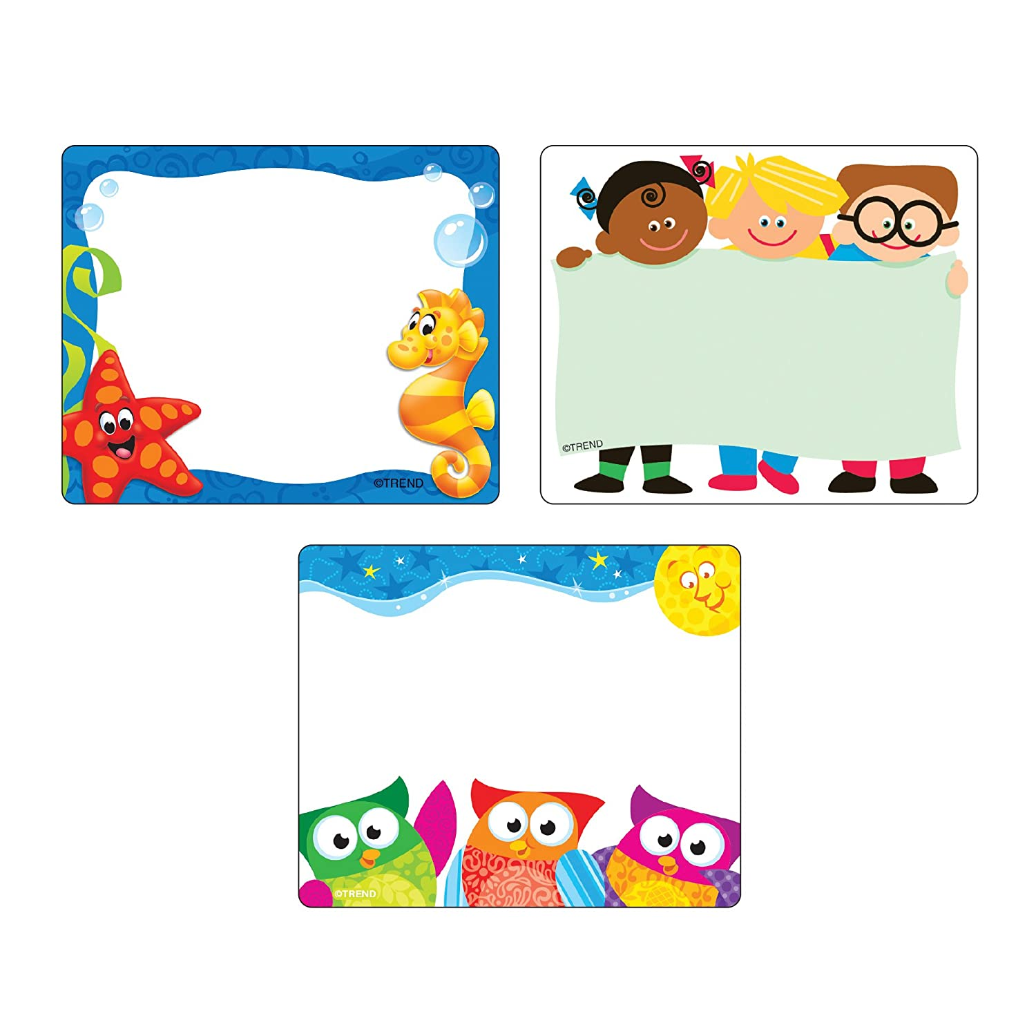 Trend Terrific Labels Friendly Faces Name Tags