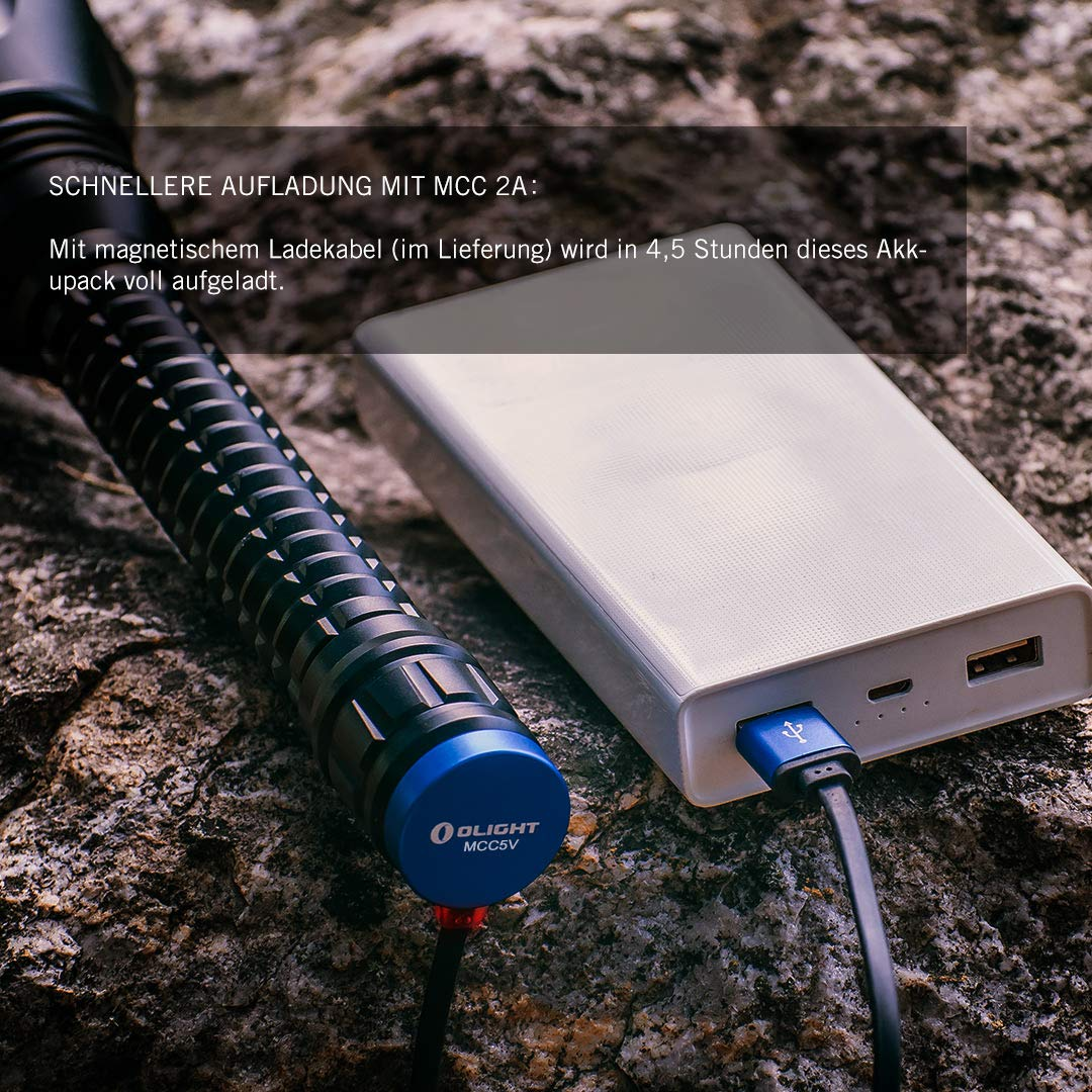 OLIGHT JAVELOT PRO Schwarz Kit 25.00W 3.60V Linterna LED recargable 2100 l/úmenes, alcance de hasta 1080 m, 4 modos de iluminaci/ón, accesorios completos