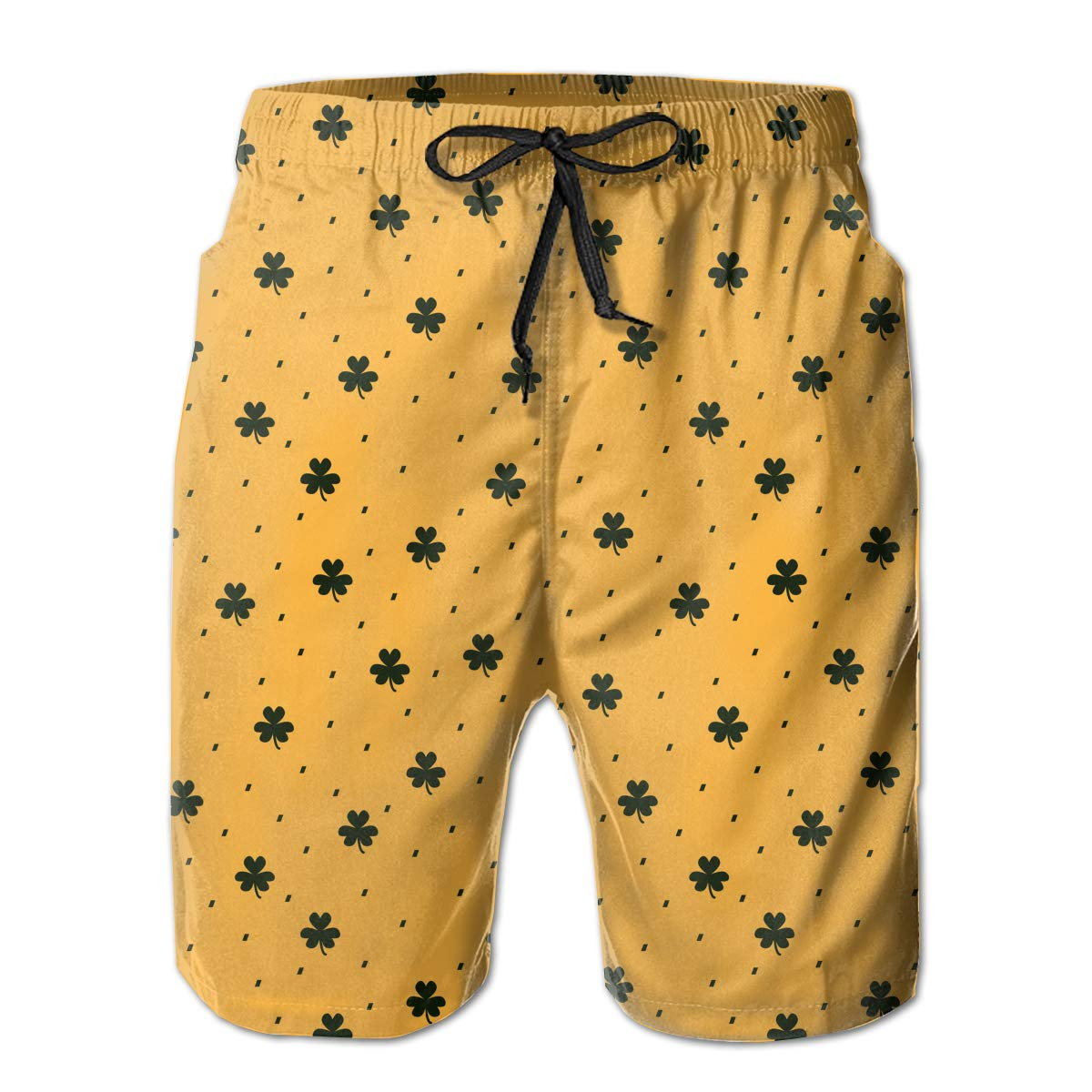 Isaa Miill Mens Casual Swim Trunks Beach Shorts with Elastic Waist