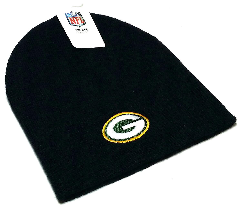 Reebok NFL Cuffless Team Logo Beanie Hat - Football Knit Skull Cap a64f9599d