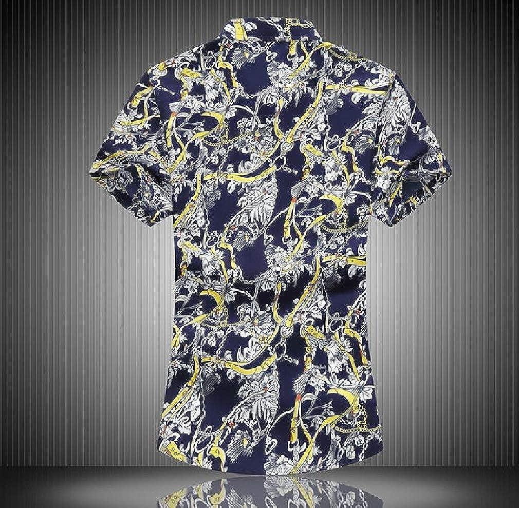 VITryst-Men Hipster Comfort Soft Bechwear Plus-Size Regular-Fit Shirts