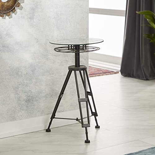 Deco 79 51652 Metal Glass Accent Table
