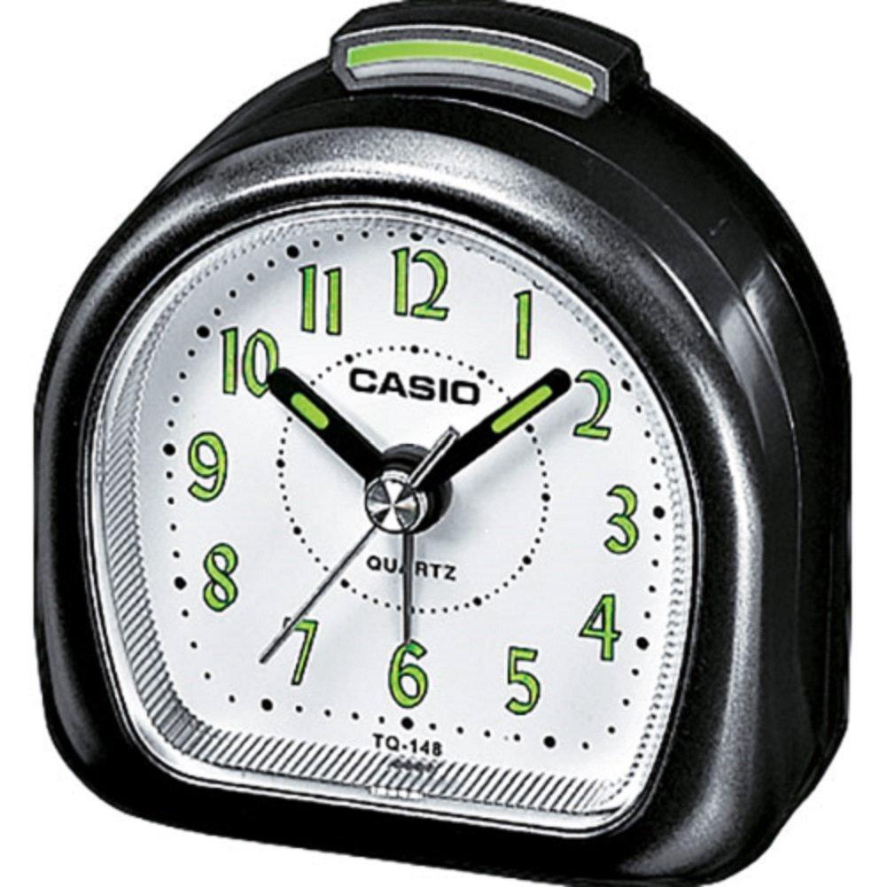 Casio TQ218/8 Travel Alarm Clock, Silver TQ-218-8EF