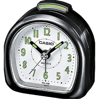 Casio Collection TQ-148-1EF, Reloj con Alarma Diaria y Pantalla de Neón, Negro
