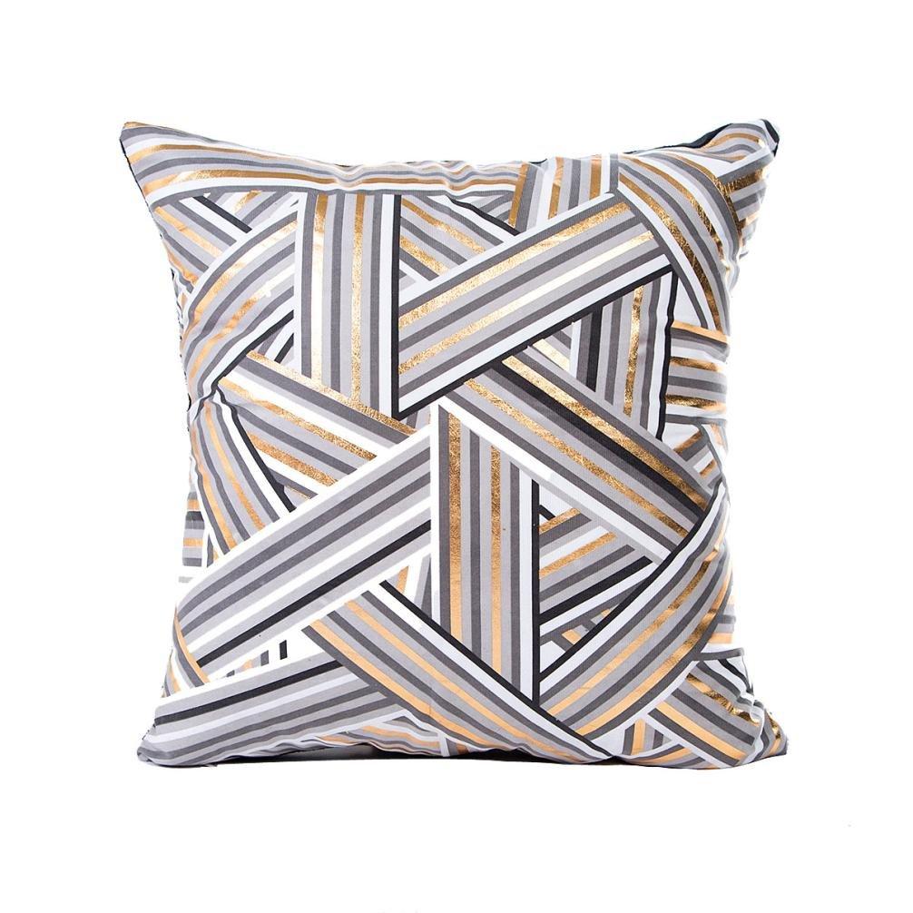 LuckyGirls kissenbez/üge Goldfolie Druck Kissenbezug Sofa Pillowcase Home Decor 30cmX50cm