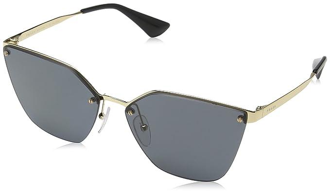 Prada Damen Sonnenbrille 0PR68TS 7OE5Z1, Gold (Antique Gold/Polargrey), 63