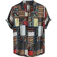 Sylar Camisas De Hombre Manga Corta Camisetas Hombre Originales con Estampado Vintage Camisa Hawaiana Hombre Verano…