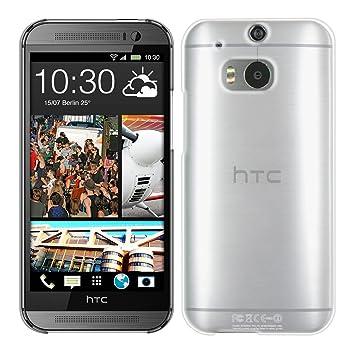 kwmobile Funda compatible con HTC One M8 / Dual - Carcasa para móvil - Protector trasero en transparente