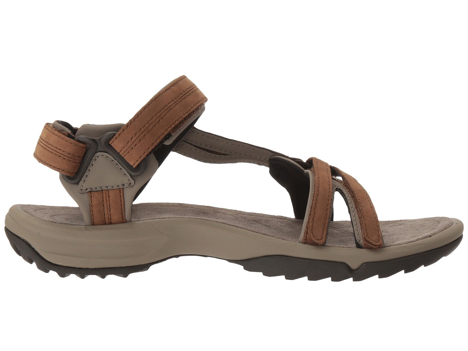 Teva Terra Fi Lite Leather Sandal Women's Hiking 8.5 Brown
